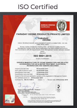 faraday-ozone-iso-certification
